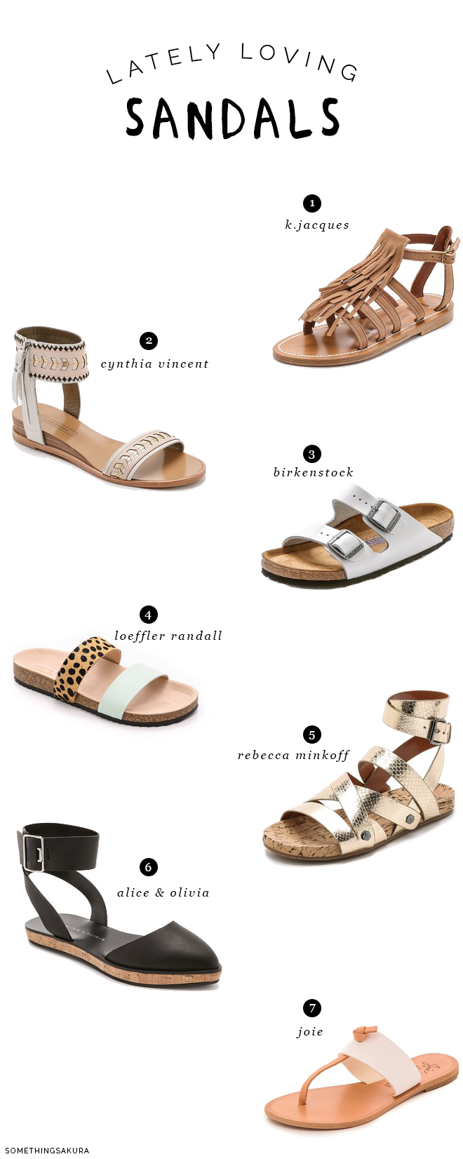 Something Sakura: Lately Loving Sandals