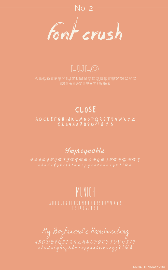 Something Sakura: Font Crush No. 2
