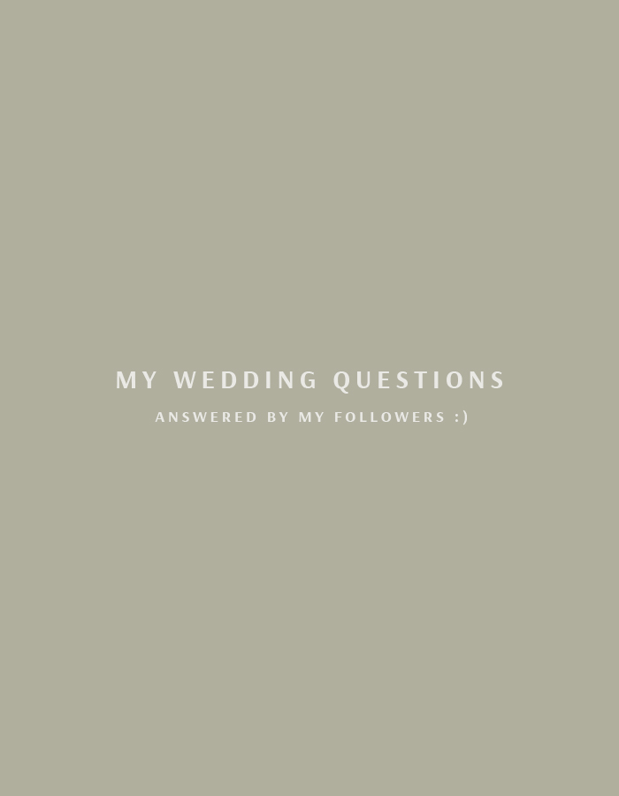 My Wedding Questions Answered By My Followers!